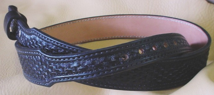 Black Baby Basket Weave Belt