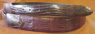 Tapered Burgundy Alligator