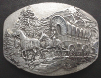 Wagon Scene Buckle