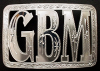 Initials Belt Buckle