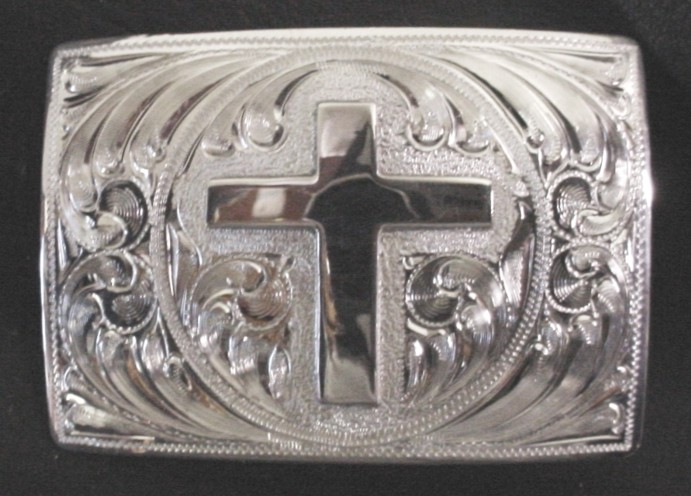 Silver Cross Buckle