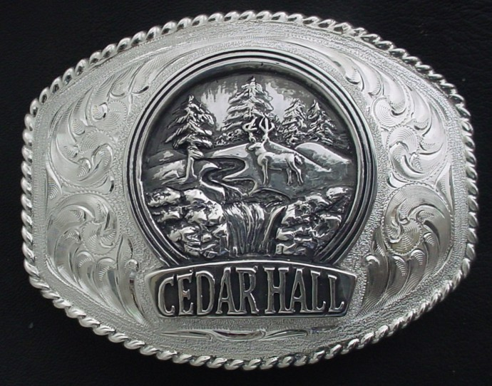Cedar Hall Logo Sign Buckle