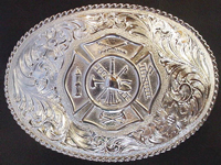 Fireman's Maltese Cross Buckle