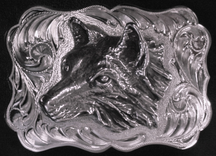 Large Wolf Left Buckle