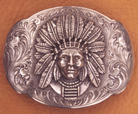 Custom Motif Indian Belt Buckle