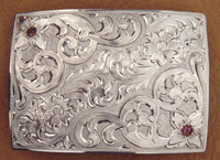 Sterling Silver on Sterling Belt Buckles