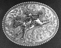 Custom Motif Sterling on Sterling Silver Buckle