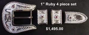 Ruby Ranger Buckle Set