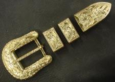 22kt 4. Pc Buckle Set