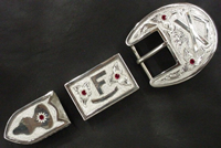 Brand Buckle Set with Rubies