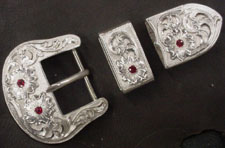 "1-1/4"" Ruby Buckle Set"