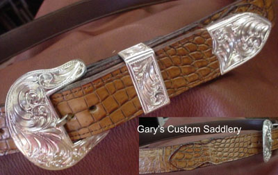 "1-1/4"" 2-Tone Gator Billet Style Belt with Buckle Set"