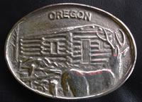 Custom Oregon State Buckle